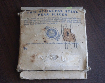 Vintage 1947 Pear Slicer with Original Box and Instructions