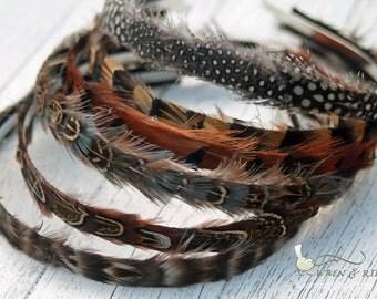 Feather Headband - Feather-Lined - Child Girl Adult Headband