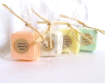 100 Wedding Favors or Party Favors- Soap favors-Bridal Shower - Party Favors - Rustic Wedding - Custom Wedding Favors in your Wedding colors