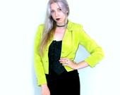 SALE ACID Green Cropped Blazer