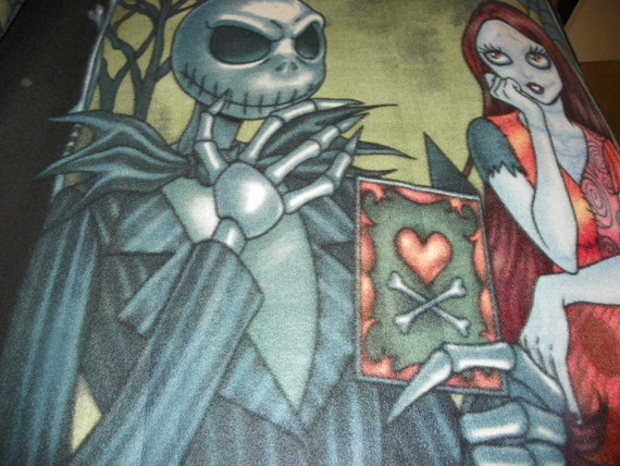 Jack nightmare before christmas jack fleece fabric by the panel the
