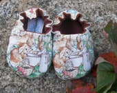 Beatrix Potter Baby Shoes--Flopsy Mopsy and Cottontail Rabbit--bunnies
