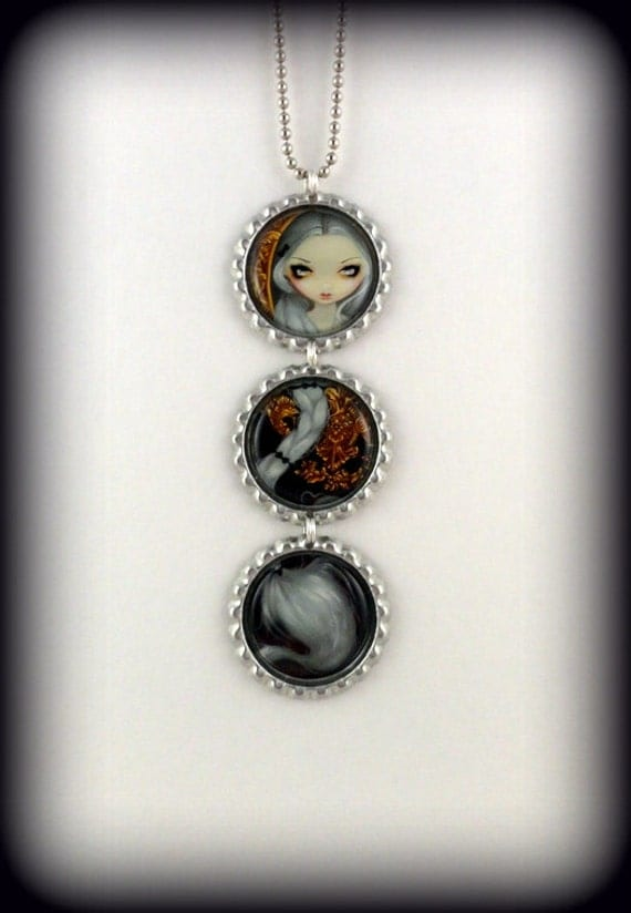 "Jasmine Becket-Griffith  "" Rapunzel in Rococo ""  necklace"