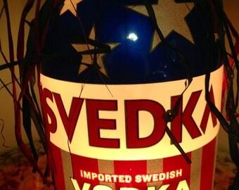 Lighted Bottle Svedka Vodka
