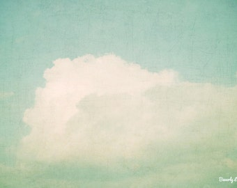 sky, teal, blue, white, clouds, nature, fine art photography