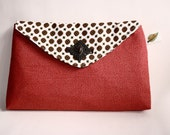 Coins n' Rubies envelope clutch purse (limited edition) - Catalina range