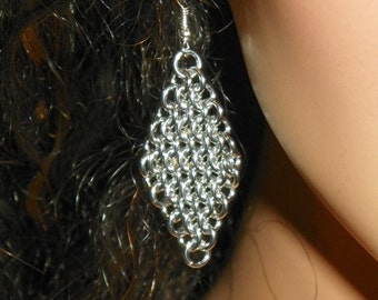 Diamond Shape Dangle Earrings