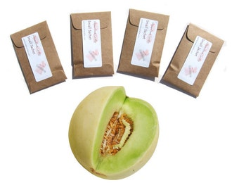 Farmhouse Decor Rustic Favors Kraft Baby Seeds Packet Honeydew Melon Scented Sachets Fruit Fragrance Home Summer Baptism Industrial Chic