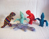 MADE to ORDER UNIQUE One Crochet  PlanetJune Dinosaur Amigurumi Tyrannosaurus Pteranodon Plesiosaurus