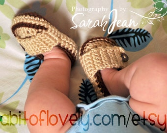 Baby Shoes, Crochet Baby Shoes, Baby Slippers, Baby Shoes, Infant Shoes, Crib Shoes, Photo Prop, Photo Props, Tan, Brown