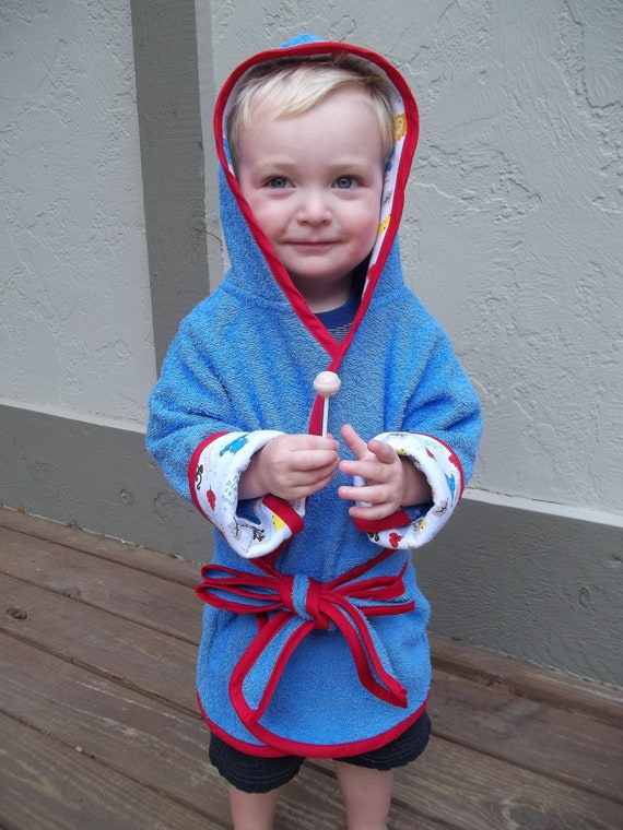 Toddler Boys Terry Bath Robe Size 18 Months to 3T