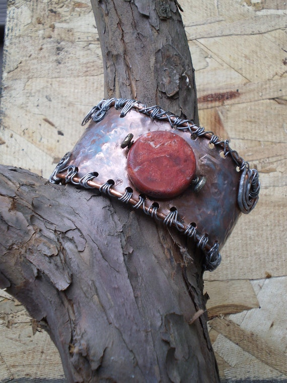 Copper Cuff: Roma Mars Orbital Copper Cuff