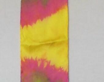 Silk Charmeuse Sash, Hand dyed, OOAK