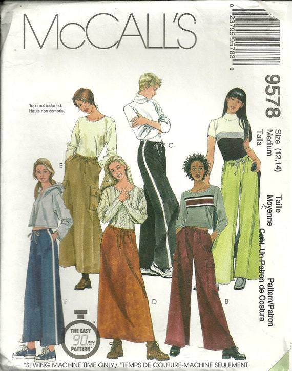 Pull on Skirt, Pants McCalls 9578 Misses Sizes 12 14