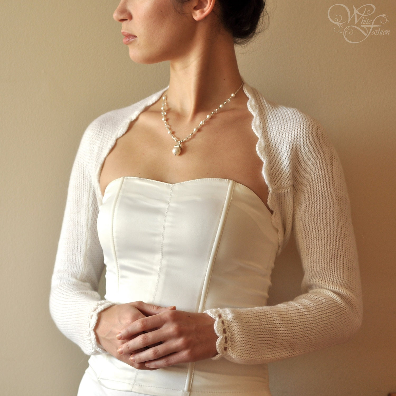 Bridal Sweater Wedding Bolero alpaca wool warm color light