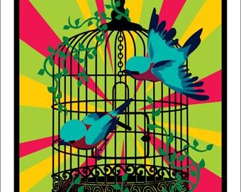 Bird Cage Print