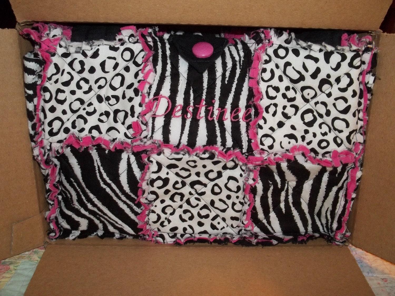Items similar to ZEBRA / LEOPARD Print Rag Quilt Diaper Bag / Purse on Etsy