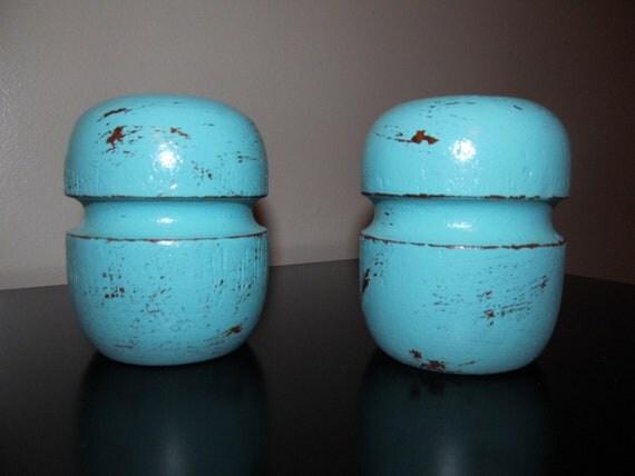 Shabby Chic Salt  Shaker And Pepper Shakers