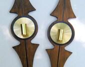Retro Mid-Century Vintage Candle Holders, Art Deco Funky