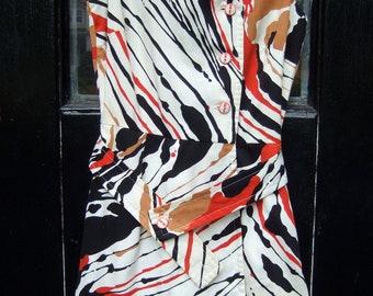 1970s Op Art Sporty Cotton Skort Dress