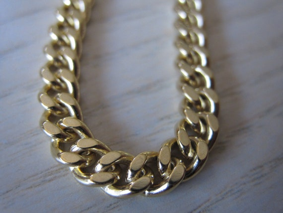 Small Gold Curb Chain Diamond Cut Necklace Chain Bracelet Chain Fashion Chain Fashion Gold Chain 5mm by 4mm, 3 Feet Length by BySupply