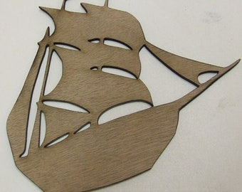 Sailing Ship / Pirate Ship Wood Cut Out - Laser Cut