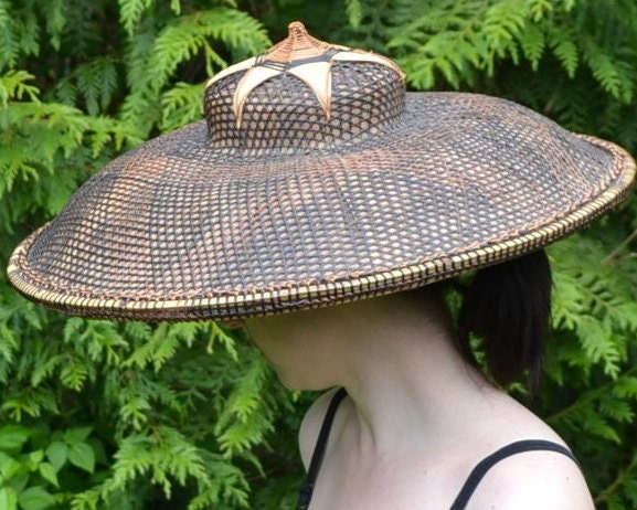 Antique asian farmer hat styles