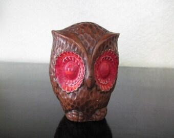 Vintage Ceramic Treasure Craft Owl Salt Pepper Shaker