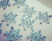 Confetti for Wedding or Holiday Party - Snowflake and crystals