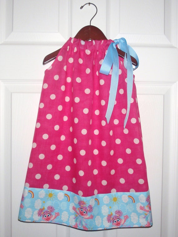 Abby Cadabby and Hot Pink Polka Dot Pillowcase Dress