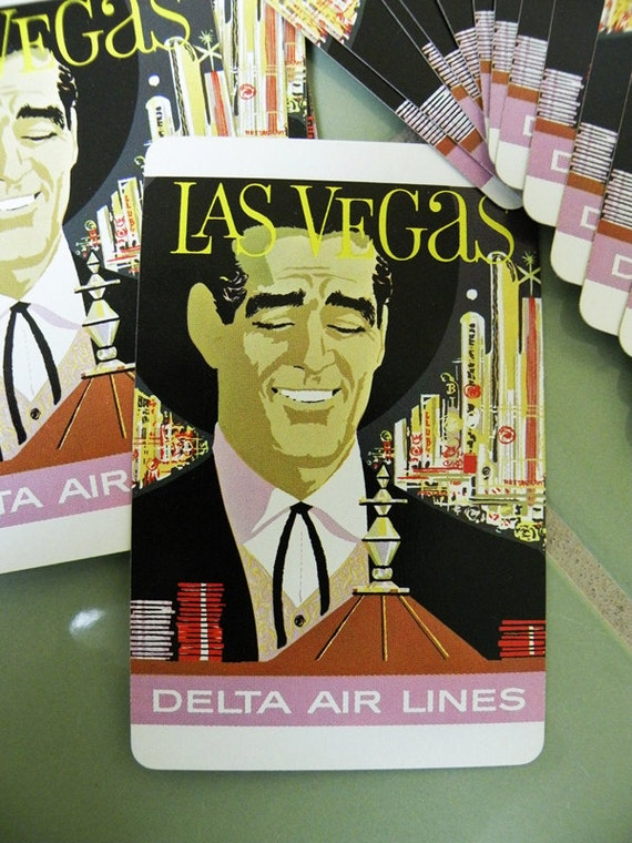 Las Vegas Dean Martin Playing Cards // Delta Airlines Souvenir // Airline Memorabilia //   Game Casino Man Cave Poker