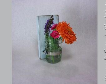 Mason jar sconce wall sconce Mason Jar Vase Shabby Chic