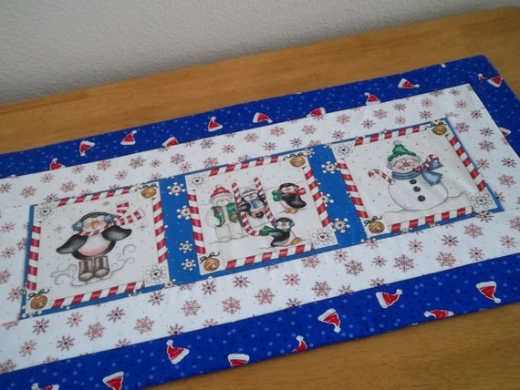 Quilted Christmas/Winter Table Runner