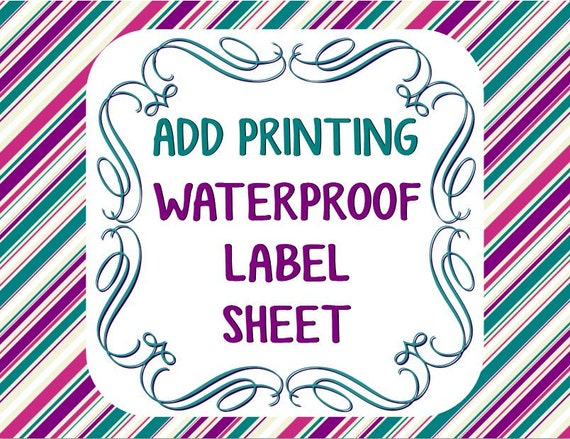 Smart image with printable waterproof labels