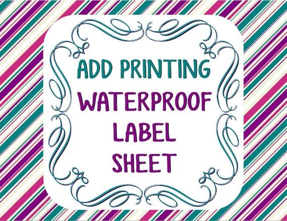 Superb image throughout printable waterproof labels