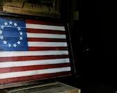 Reclaimed Pallet Wood - Vintage American Flag Wall Art