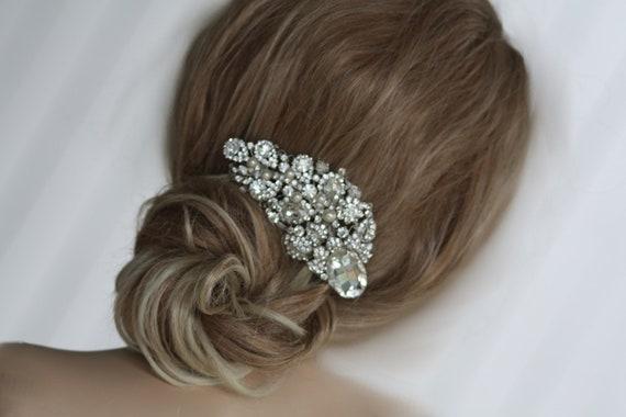 Bridal Jewelry- Crystal Hair Comb, Tiara, Swarovski, Wedding, Bridesmaids, Rhinestones, Evening Accessories (La Madam Joli)