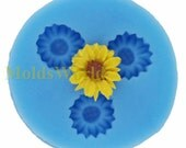 A092 Small Daisy Cabochon 3 Cavity Flexible Silicone Mold Mould for Crafts, Jewelry, Scrapbooking,  (resin, Utee, pmc, polymer clay)