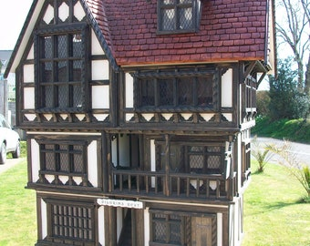 Handmade Bespoke Tudor 12th Scale Doll House