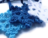 Snowflake Decorations : set of 3 handmade crocheted snowflakes, tree decorations, holiday decor