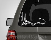"""Car Decal - 8"""" Smaug the Dragon Car Decal inspired by The Lord of the Rings"""