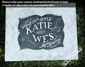 Wedding Guestbook sign - Wedding guestbook personalized chalkboard sign