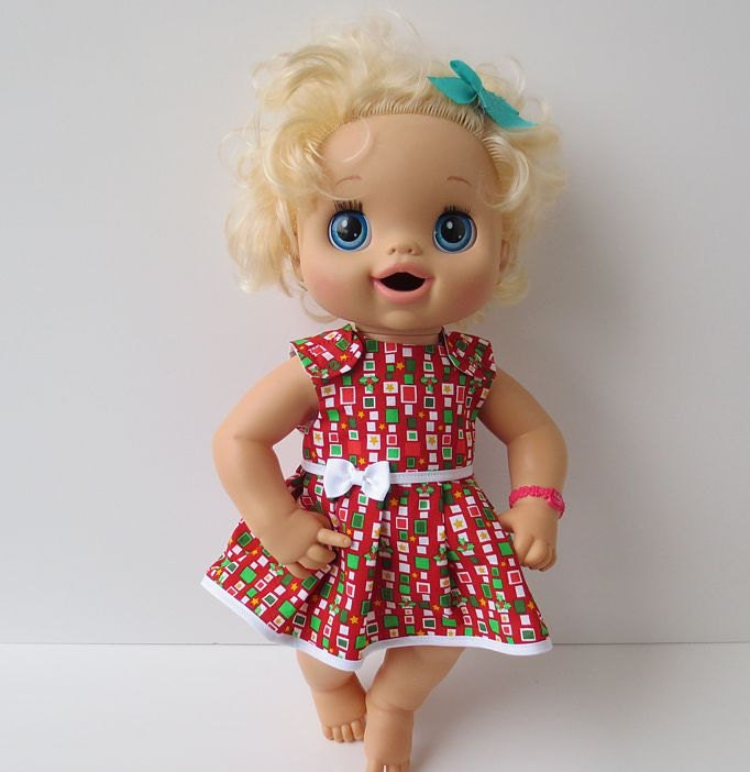 Baby Doll Clothes Christmas Dress Fits Baby Alive Waldorf