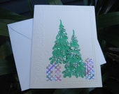 Christmas Tree Note Card - Set of 4