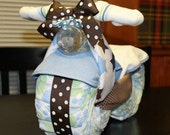 Motorcycle Diaper Cake - Baby Shower Gift