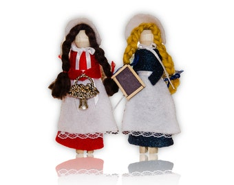 Little House on the Prairie Clothespin Doll Ornament Kit: Laura and Mary Ingalls