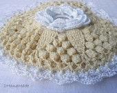 Knitting Crochet Organizer Project Bag Women Ladies Irisch Flower Lace crochet small Roll Purse  Vintage Romantic Victorian for Crafts
