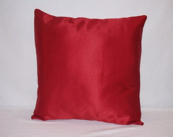 "16"" x 16"" Red Decorative Pillow Cover"