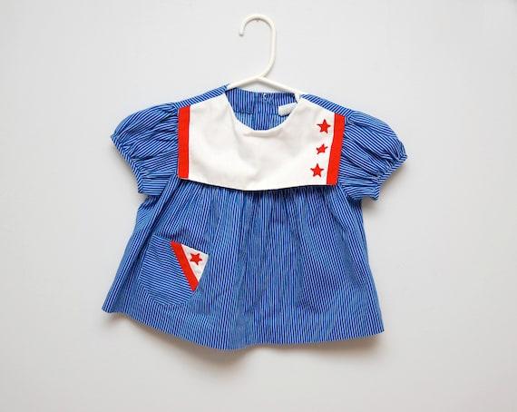 Vintage toddler girl's sailor blouse/dress
