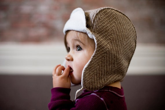 Wee Wool Bomber Hat for Kids - Ready to Ship